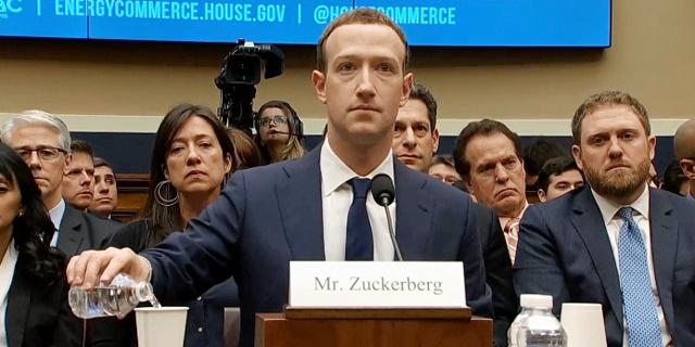 מייסד פייסבוק מארק צוקרברג מעיד בבית הנבחרים, צילום: ABC