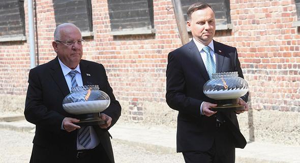 ראובן ריבלין ונשיא פולין אנדז