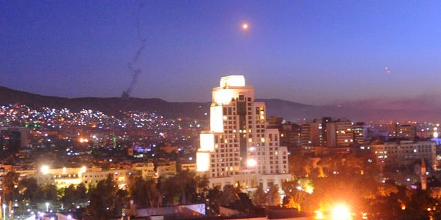 התקפת הטילים בדמשק, צילום: איי פי