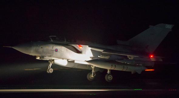 מטוס שהשתתף בתקיפה בסוריה