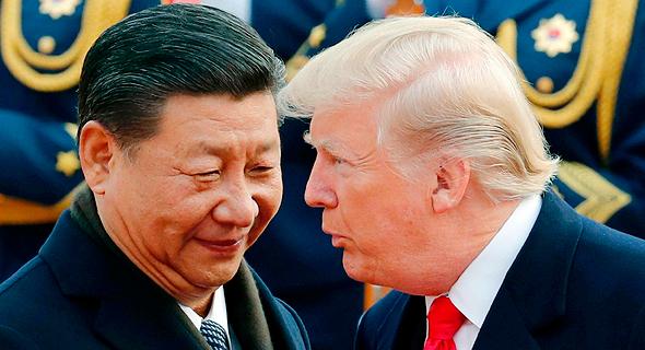 דונלד טראמפ ונשיא סין שי ג'ינפינג. בשונה מסיכונים גיאו-פוליטיים, את מגמות הריבית המשקיע יכול וצריך לצפות