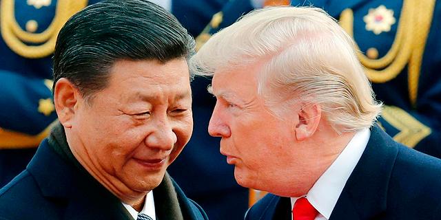 """נשיא ארה""""ב דונלד טראמפ ונשיא סין שי ג"""
