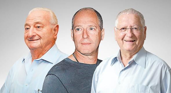 מימין: יאיר רוטלוי, ליגד רוטלוי וישעיהו לנדאו, בעלי השליטה הגדולים בשותפות רציו