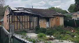 צריף שרוף למכירה עמק הסיליקון סן חוזה 1, צילום: willow
