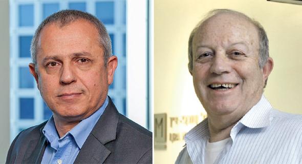 מימין: עורכי הדין אמנון לורך וברק טל, שותפים בכירים ביגאל ארנון. ייצגו את המפרק בתיק רשות השידור