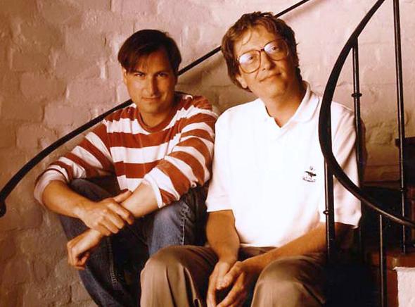 ביל גייטס וסטיב ג'ובס ב-1991, יצרו טכנולוגיה שמנעו מילדיהם הפרטיים