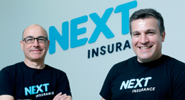 Next insurance co-founders Nissim Tapiro (left) and Alon Huri. Photo: Amit Shaal
