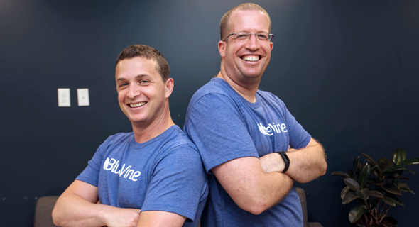 BlueVine's co-founders Eyal Lifshitz and Nir Klar. Photo: BlueVine