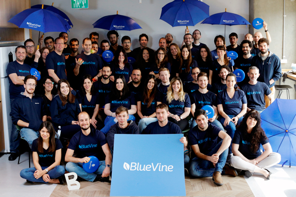 BlueVine's team. Photo: Amit Sha'al