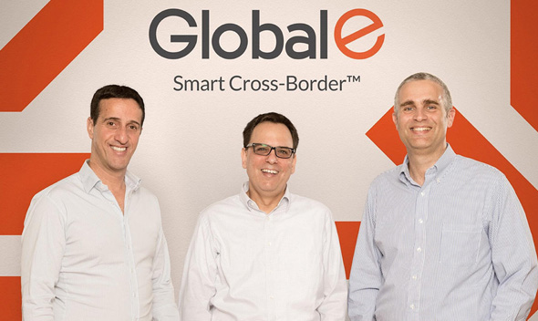 Global-e Founders Nir Debbi (left), Shahar Tamari, and Amir Shalechet. Photo: Rotem Barak