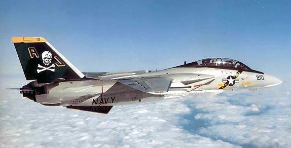 F14 של טייסת קרב אמריקאית