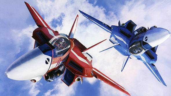 מטוסים דמויי F14 מסדרת האנימה Macross