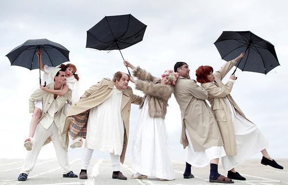 """מתוך ההצגה """"הלוויה חורפית"""" של חנוך לוין בבימויו של יאיר שרמן"""