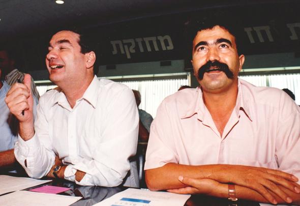 מימין עמיר פרץ ו חיים רמון, צילום: שאול גולן