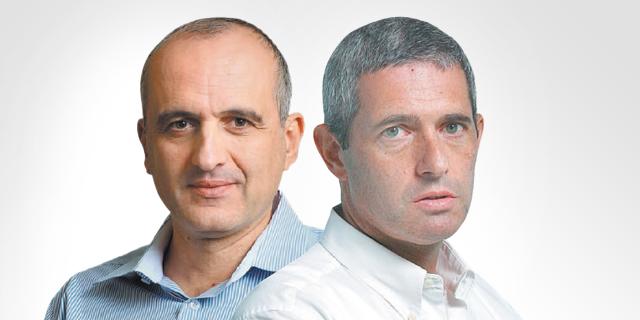 מימין: ליאור חנס שהתפטר מדירקטוריון וורטון, ודוד ברוך שהתפטר מדירקטוריון אקסטל, צילום: עמית שעל