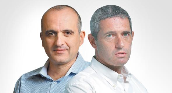 מימין: ליאור חנס שהתפטר מדירקטוריון וורטון, ודוד ברוך שהתפטר מדירקטוריון אקסטל
