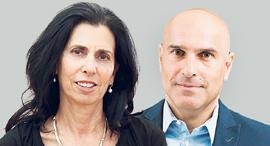 """מימין יו""""ר לשכת עורכי הדין אפי נוה ודורית סלינגר , צילומים: עידן מילמן , אוראל כהן"""