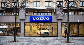 מרכז מכירות של וולוו בשטוקהולם, שבדיה, צילום: בלומברג