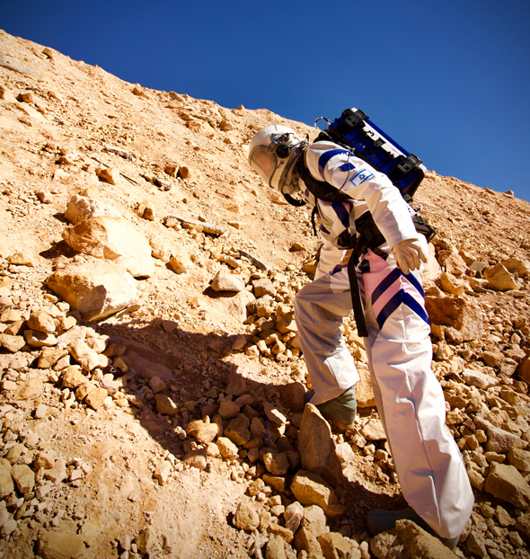 A Mars living simulation experiment in Israel. Photo: D-MARS