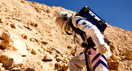 A Mars living simulation experiment in Israel. Pho