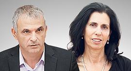 דורית סלינגר ומשה כחלון, צילומים: אלכס קולומויסקי, אוראל כהן