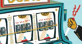 איור אג'יו מכונת מזל, איור: רועי מרגליות