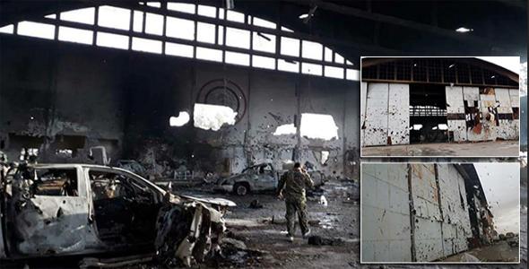 בסיס T4 לאחר התקיפה בדמשק, סוריה