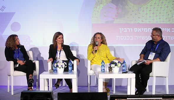 מימין: ליאור גוטמן, איילת נחמיאס ורבין, אורנה הוזמן-בכור ואסתר אלדן