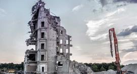 הריסת בניין משותף זירת הנדלן, צילום: שלו מן