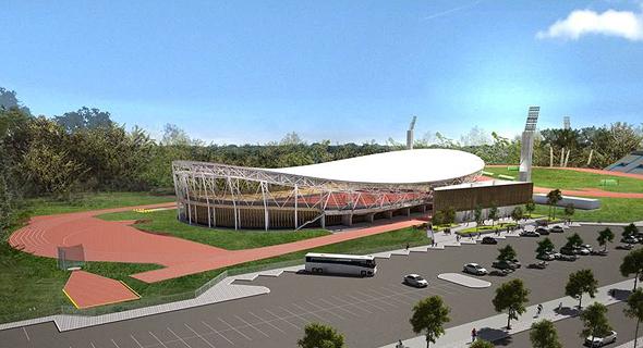 הדמיית הוולדרום האולימפי שמוקם בתל אביב