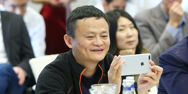 Jack Ma during his May visit to Israel. Photo: Dror Sithakol