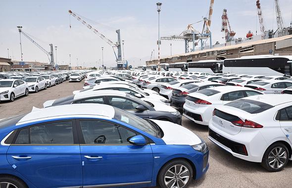 מכוניות בנמל אילת (ארכיון)