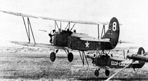מטוסי פוליקרפוב 2 באוויר