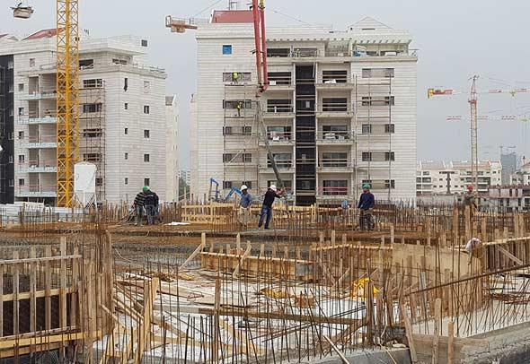אתר בנייה ברעננה (ארכיון)