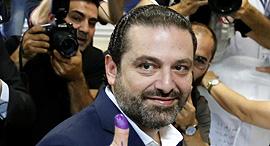 סעד אל חרירי ראש ממשלת לבנון בחירות, צילום: רוטירס
