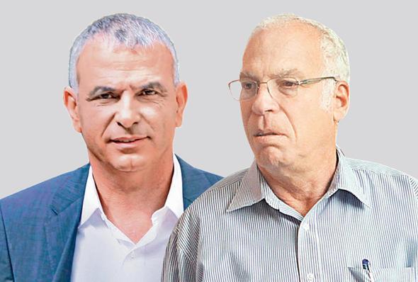 מימין שר החקלאות אורי אריאל ושר האוצר משה כחלון, צילומים: עמית שעל