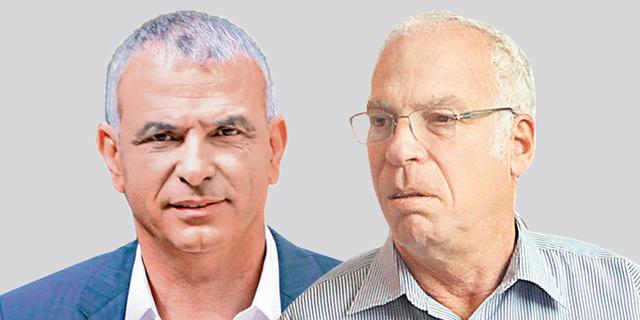 מימין: שר החקלאות אורי אריאל ושר האוצר משה כחלון, צילומים: עמית שעל