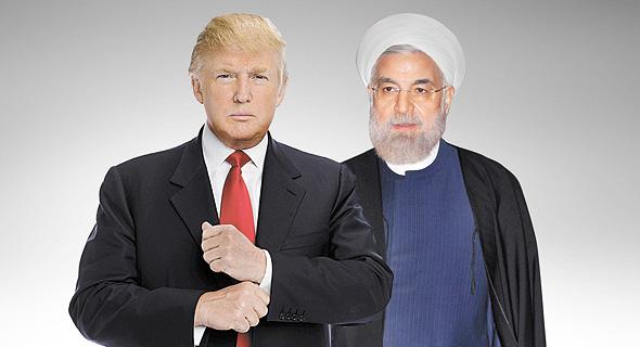 מימין חסן רוחאני ו דונלד טראמפ, צילום: איי פי, איי אף פי