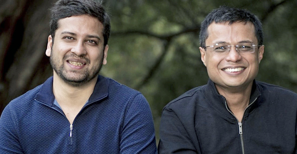 Flipkart founders Binny Bansal (left) and Sachin Bansal. Photo: Flipkart