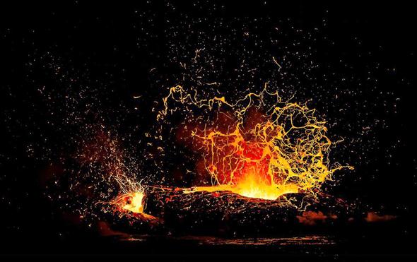 לבה בהוואי תחרות צילומי טבע 2016 מוזיאון הטבע, צילום: Alexandre Hec
