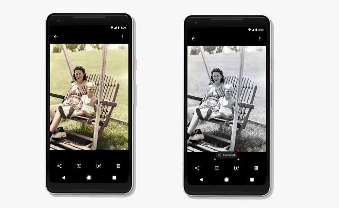 תמונה ישנה בשחור-לבן שקיבלה צבע בשירות של גוגל
