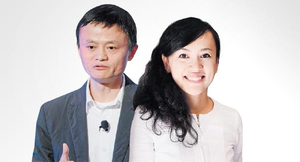 נשיאת דידי צ'ושינג ג'ין ליו ומייסד עליבאבא ג'ק מא