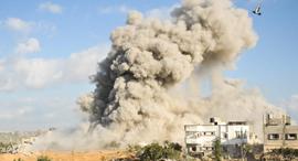 הפצצה בעזה, צילום: דובר צהל