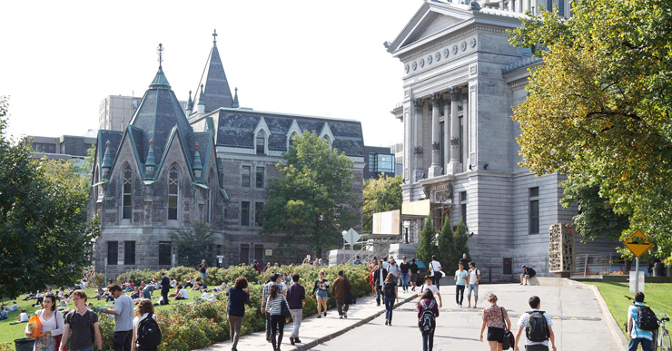 אוניברסיטת מקגיל במונטריאול. העיר כבר לא בצמרת