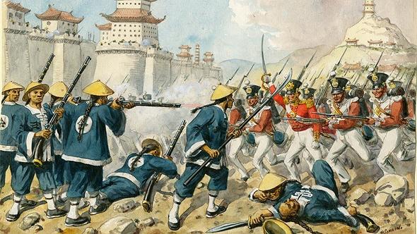 סין הובסה בשתי מלחמות האופיום