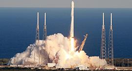 שיגור לוויין פלקון 9 SpaceX אלון מאסק, צילום: TNS