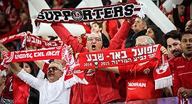 אוהדים של הפועל באר שבע בכדורגל, צילום: עוז מועלם