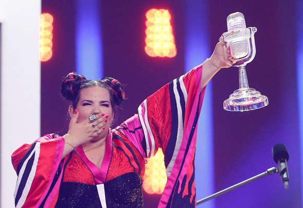 Israeli singer Netta Barzilai winning the Eurovision contest in May. Photo: Reuters