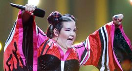 Netta Barzilai at the Eurovision. Photo: Reuters