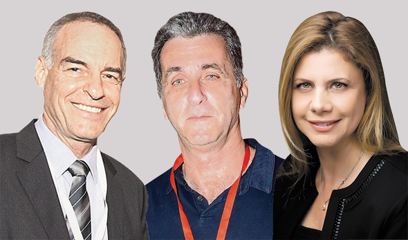 """מימין: מנכ""""לית יוניליוור ישראל ענת גבריאל, מנכ""""ל ובעלי שסטוביץ יוני שסטוביץ ובעלי דיפלומט נועם וימן. העבירו את המסמכים לרשות"""